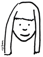 illustration of little me smiling